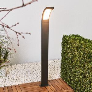 Lucande Juvia - LED osvětlení cesty z šedého hliníku