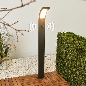 Lucande Patníkové LED světlo Juvia s čidlem, hliník