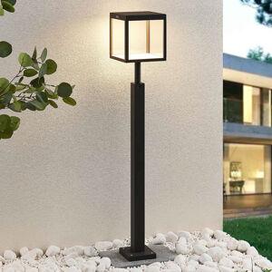 Lucande LED osvětlení cesty Cube, šedé, IP54, 100 cm