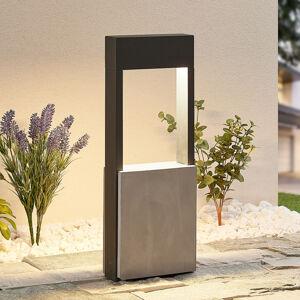 Lucande Lucande Tekiro LED světlo na soklu, beton, 45 cm