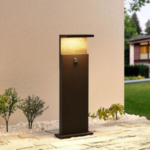 Lucande Lucande Lignus LED sokl. světlo, snímač pohybu