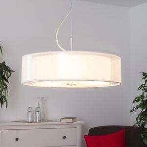 Lindby Textilní závěsné světlo Pikka s LED žárovkami E27