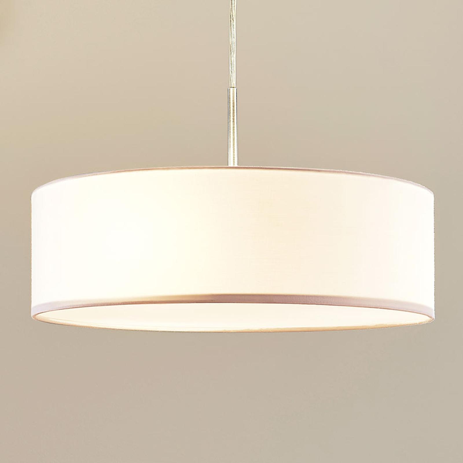 Lindby Závěsná lampa Sebatin, 40 cm, smetanová