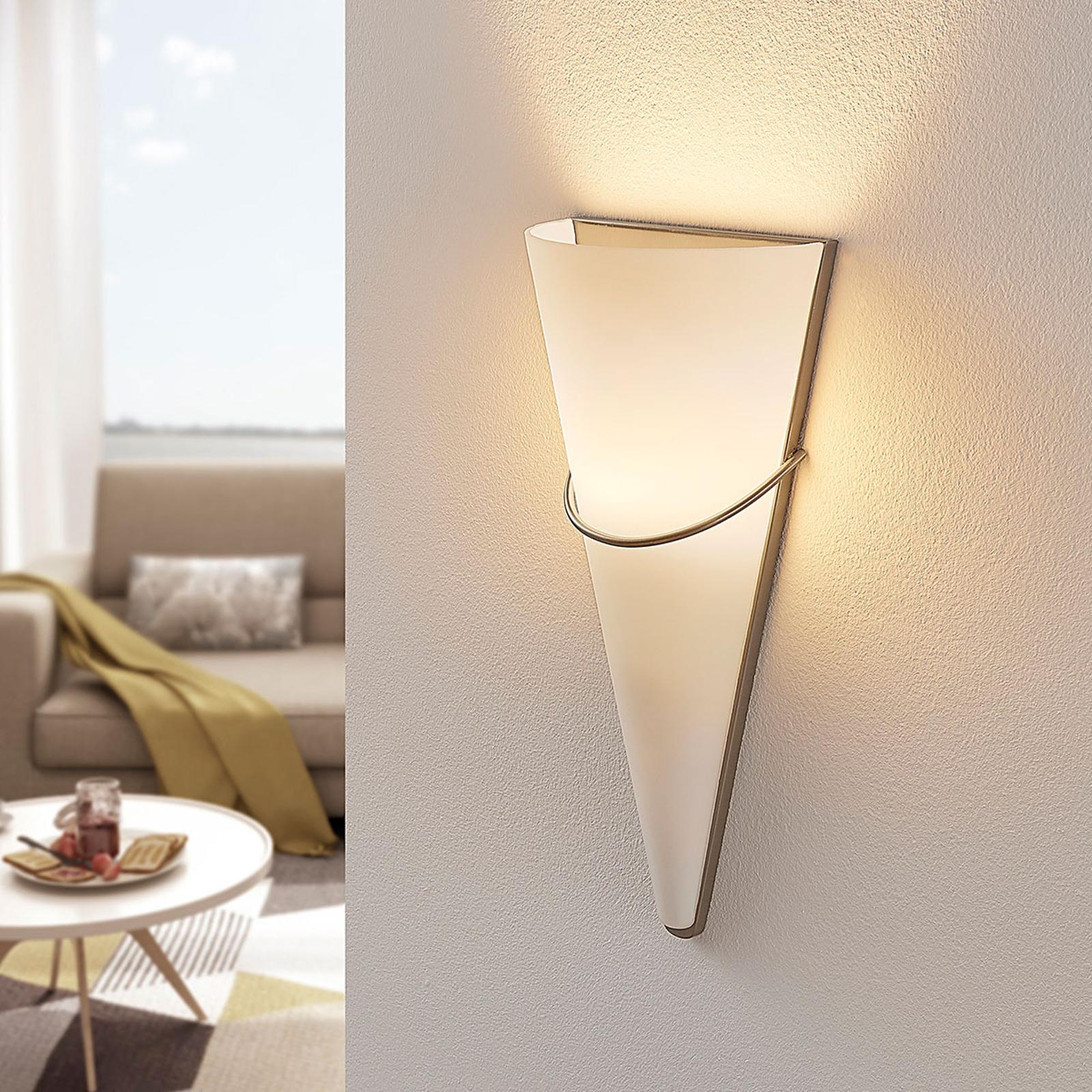Lindby Nástěnné LED světlo Melek, saténový nikl