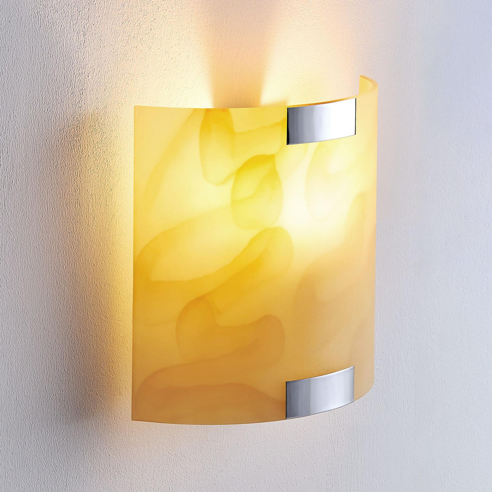 Lindby Quentin - nástěnná LED lampa, jantarová
