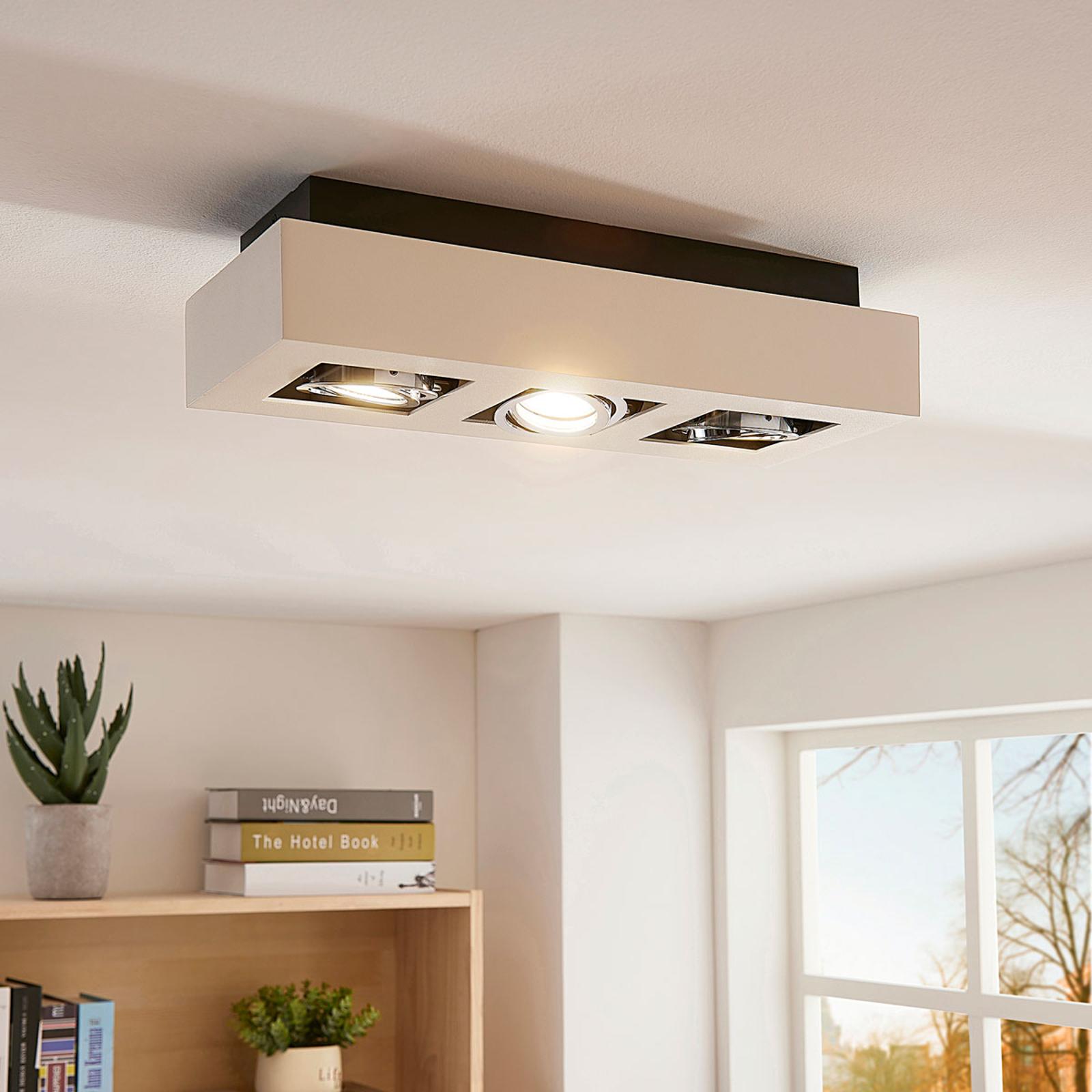 Arcchio 3bodové stropní LED osvětlení Vince, bílé
