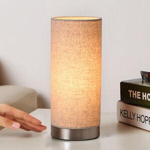 Lindby Textilní noční lampička Ronja v krémové barvě