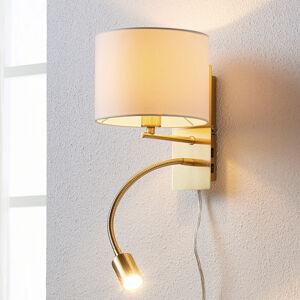 Lindby Lampa Florens v mosazi s LED čtecím světlem