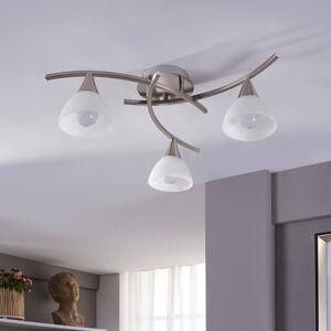 Lindby Della - LED stropní světlo, nikl matný, 3bod