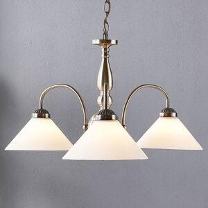 Lindby Skleněná závěsná lampa Otis, 3bodová