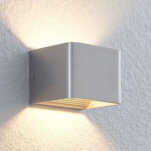Lindby Nástěnné LED světlo Lonisa, nikl, 10 cm