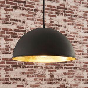 Lindby Černo-zlaté závěsné světlo Leya