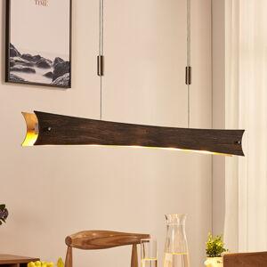 Lucande Stmívatelné závěsné LED světlo Ebba, černo-zlaté