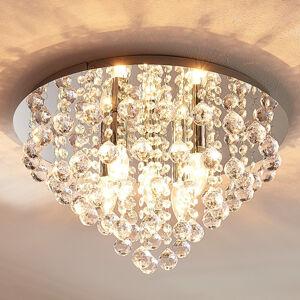 Lindby Blýskavá stropní lampa Annica, chromovaný panel