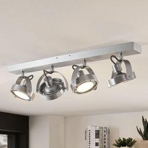 Arcchio LED reflektor Munin, stmívatelný, hliník, 4bodový