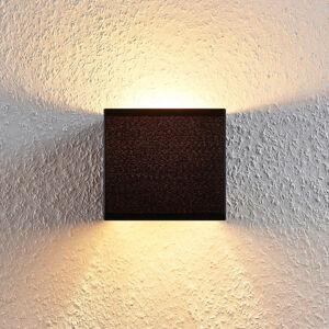 Lindby Nástěnná lampa Adea s vypínačem, 13 cm, černá