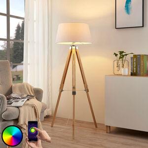 Lindby Lindby Smart LED stojací lampa Alessa, tripod, RGB