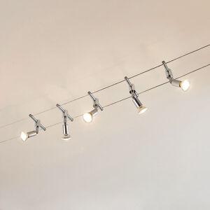 Lindby Lankový systém Rope s LED reflektory, 5zdrojový