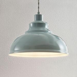 Lindby Vintage závěsné světlo Albertine, kov světle modrá