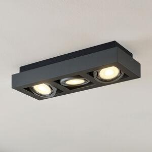 Arcchio LED stropní osvětlení Ronka, GU10, 3zdrojové šedé