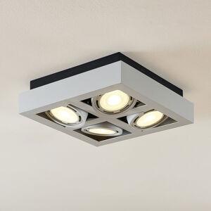 Arcchio LED stropní osvětlení Ronka 4zdrojové čtverec bílé