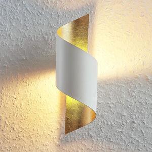 Lindby Kovové LED nástěnné světlo Desirio, bílo-zlaté