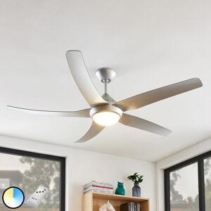 Arcchio Arcchio Dora LED ventilátor, 5 lopatky, stříbrný