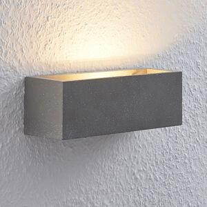 Lindby Lindby Selma LED nástěnné světlo, beton, hranaté