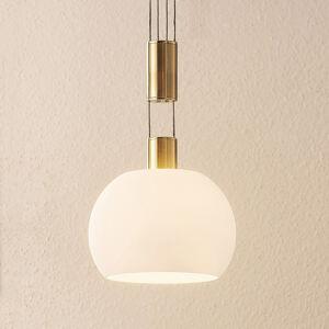 Lindby Lindby Aurell LED závěs. světlo, sklo, 1žár. mosaz