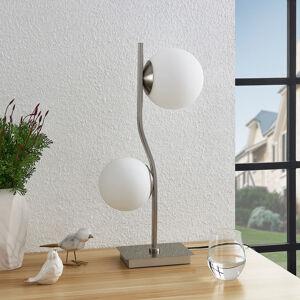 Lindby Lindby Avalyn stolní lampa, bílá, nikl satin.