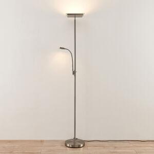 Lindby Lindby Kavi LED stojací lampa čtecí světlo hranatá
