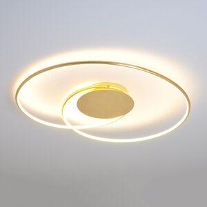 Lindby Zlatá LED stropní svítilna Joline, 74 cm