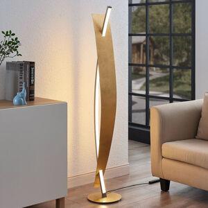 Lucande LED stojací lampa Marija, elegantní zlatý vzhled