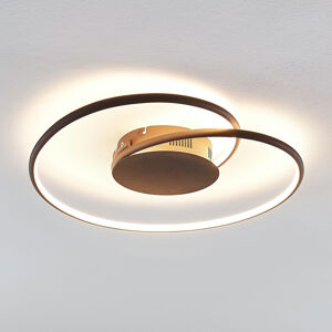 Lindby Lindby Joline LED stropní světlo, rez, 45 cm