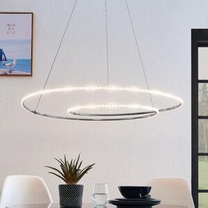 Lindby Lindby Lucy LED závěsné světlo, 90cm, krystal