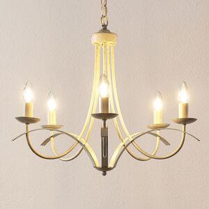 Lindby Lindby Amonja lustr, 5žárovkový, bílý