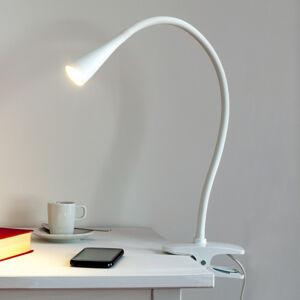 Lindby Úzká LED svítilna s klipem Baris v bílé