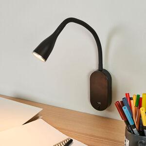 Lindby Nastavitelná LED nástěnná svítilna Enna, USB port