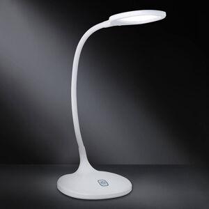 Wofi Stmívatelná LED lampa na psací stůl Yava bílá