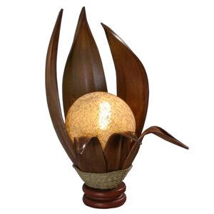 Woru Karima stolní lampa z tvrzených kokosových listů