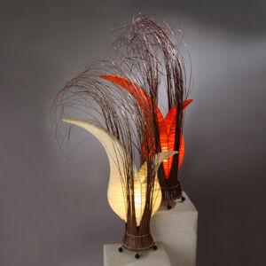 Woru Bunga stolní lampa v květinovém tvaru, krémová