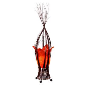 Woru Stolní lampa Elena s látkovým stínidlem, oranžová
