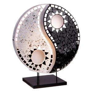Woru Stolní lampa Ying Yang mozaikové selenity černá