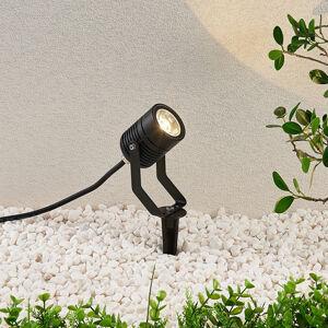 Lindby LED venkovní osvětlení Maris, kolík, IP65, černé