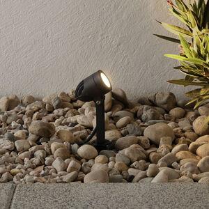 Lampenwelt.com LED venkovní reflektor Timko, kolík, IP65, černý