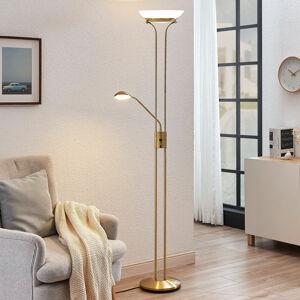 Lindby LED svítidlo Dimitra s lampičkou na čtení, mosaz