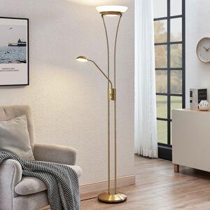 Lindby LED svítidlo Amadou s lampou na čtení, mosaz