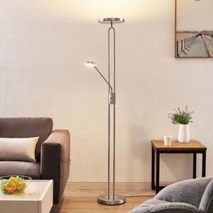 Lindby Lindby Twina LED stojací lampa, chrom satinovaný