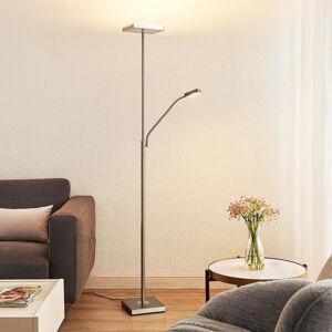 Lindby Lindby Sumani LED stojací lampa, hranatá, nikl
