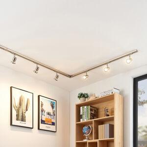 Arcchio 1fázový LED kolejnicový systém Radmir, 6zdroj nikl